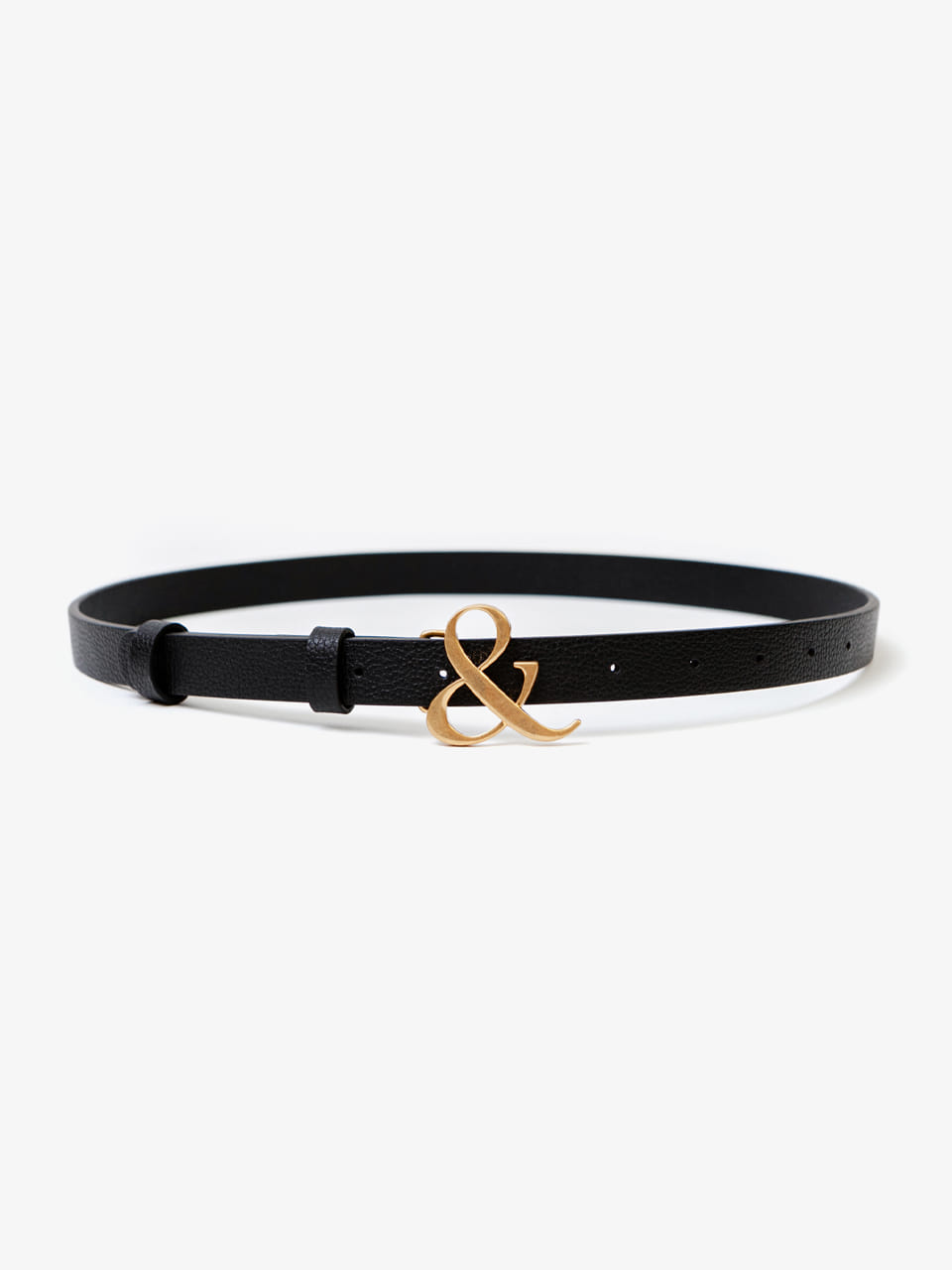 [ACCME5002M] AMPERSAND BUCKLE SLIM BELT_BKGD