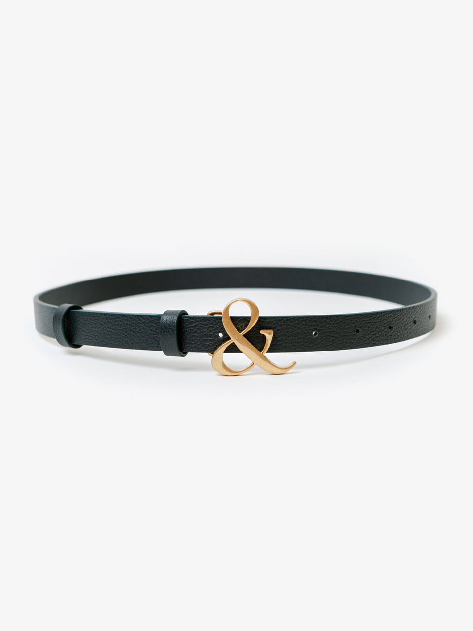 [ACCME5003M] AMPERSAND BUCKLE SLIM BELT_GN
